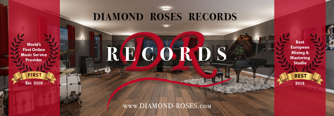 Diamond Roses Records - Homepage Header - Logo